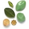 Lucite Assorted Medium Beads Jade - 42 Grams